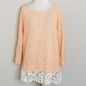 Anthro | Sunday in Brooklyn Citrus Lace Sweater M